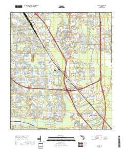 Bayard, Florida topo map by East View Geospatial, 1:24:000, 7.5 x 7.5 Minutes, US Topo, 22.8