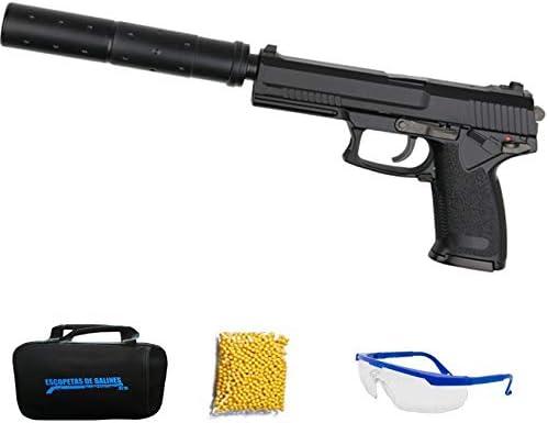 ASG MK23 Special Operations Gas - Pistola de Airsoft Calibre 6mm (Arma Aire Suave de Bolas de plástico o PVC). Sistema: Gas <3,5J