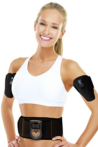 Bodi Tek Abs Abdominal and Arms Ems Muscle Toner riem, zwart, eenheidsmaat