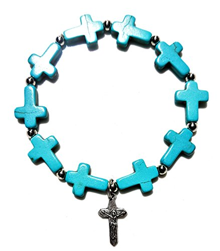 NickAngelo's Christian Cross Bracelet Elegant Fashion Jewelry For Women Vintage Look Versatile Design Created Turquoise
