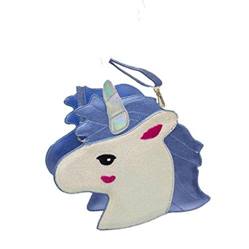 Bolso Mujeres De Las Lindo Azul Muchachas Unicornio Bolso Cruz Bolsas Monedero Lalang Del Hombro cuerpo De qpSA6a