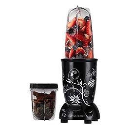 Wonderchef Nutri-Blend, 22000 RPM Mixer-Grinder, Blender, SS Blades, 2 Unbreakable Jars, 2 Years Warranty, 400 W-Black…