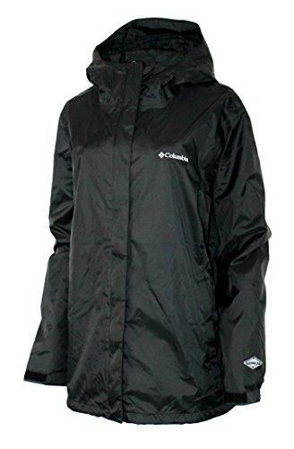Columbia Women's Plus Timber Pointe Rain Hooded Waterproof Jacket (1X)