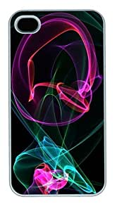 ABSTRACT DESIGN 619 PC Case Cover for iPhone 4 and iPhone 4s White