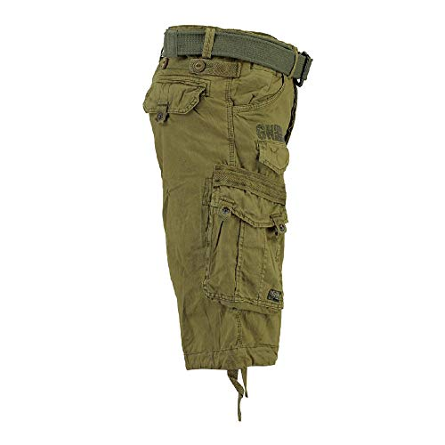 Hommes Men Geographical Cargo Basic Norway Mastic Vert Pantalon Panoramique Shorts TfW5Z17wq