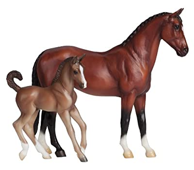 Breyer Classics Blood Bay Warmblood and Foal Set by Breyer