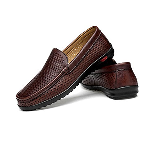 Casual slittamento Color Black chiusura con a Dimensione Brown in Hollow shoes da Crocodile Mocassini da Da 38 gomma classici guida Uomo uomo EU Mocassini Scarpe Mocassini Shufang 2018 da barca HBqS7aa