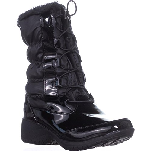Bella Toe Khombu Womens Boots Black Calf Weather Mid Closed Cold wZZR5Cq