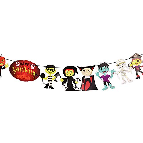 Halloween Banner Bunting Party Favors Decorations Halloween Props Best Halloween Decoration (C) -