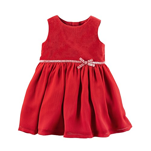 Carter's Baby Girls' Velveteen Dress 6 Months