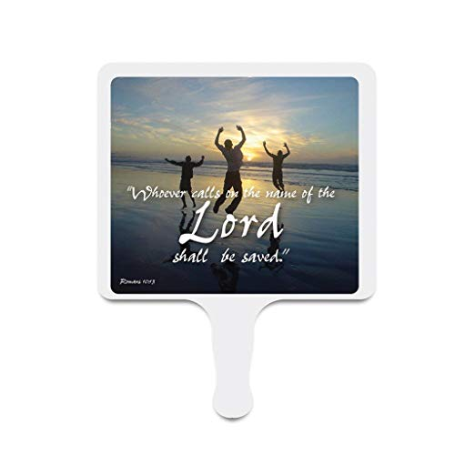 VictoryStore Church Fans - Set of 24 - Romans 10:13 - Hand Held Fans ()
