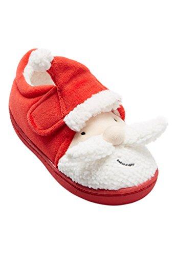next Niños Pantuflas con Diseño De Papá Noel (Niño Pequeño) Rojo