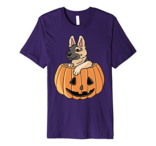 German Costumes Ideas (Mens Halloween German Shepherd Shirt - Cute Dog Costume Idea Medium Purple)