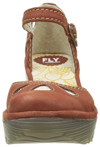 FLYA4 #Fly London Yuna, Zapatos De Tacón Para Mujer Rojo (Brick 127)