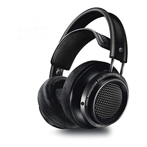chollos oferta descuentos barato Philips Fidelio X2HR 00 Auriculares Supraaurales High Res Audio Altavoces Acústicos de 50 mm Almohadillas de Espuma con Efecto Memoria Clip para cables Reducción de Ruido Negro