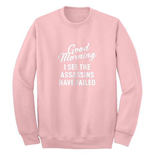 Crew Good Morning XX-Large Light Pink Sweatshirt (Adult Movies Xx Rated For Women)