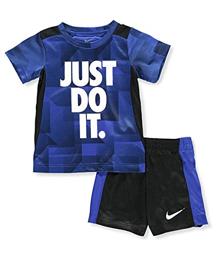 NIKE Children's Apparel Boys' Toddler Graphic T-Shirt and Shorts 2-Piece Set, Hyper Royal/Obsidian 4T by NIKE Children's Apparel (Image #2)