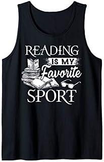 Reading  For Men Women Reading is My Favorite Sport Tee Tank Top T-shirt | Size S - 5XL