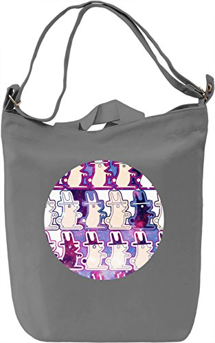 Galaxy Rabbits Borsa Giornaliera Canvas Canvas Day Bag| 100% Premium Cotton Canvas| DTG Printing|