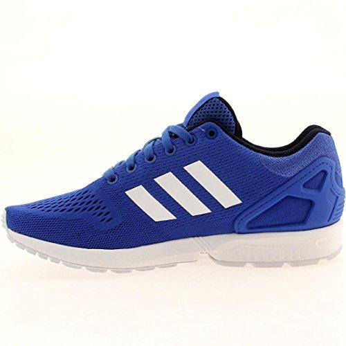 Adidas Zx Flux (9.5, Blanco / Ngtfla / Cblack) Blue/White