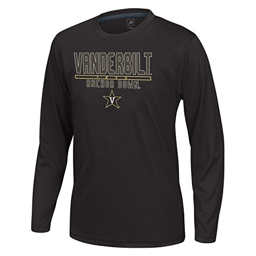 (J America NCAA Vanderbilt Commodores Boys Youth School Slogan Long Sleeve Callout Poly Tee, Black, X-Large )