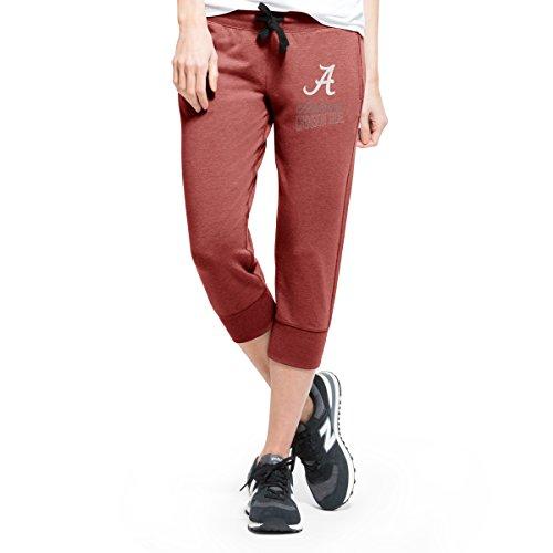 NCAA Alabama Crimson Tide Women's '47 Stride Capri Pants, Medium, Shift Cardinal (Capri Cardinal)