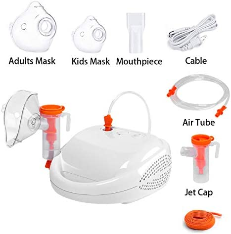 JUWA Nebulizer Machine for Respiratory Tract Treatment and Maintenance-Compressor Nebulizer for Adults and Kids-Household Steam Inhale Machine