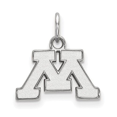 Jewelry Stores Network Minnesota Golden Gophers School Letter Logo Pendant in Sterling Silver XS - (10 mm x 15 mm) ()