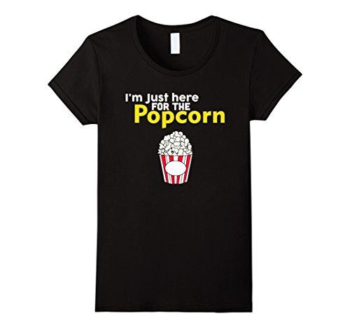 Popcorn Tee (Women's I'm just Here For The Popcorn T Shirt Medium Black)
