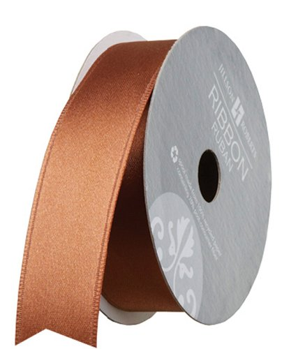 Jillson Roberts 1-Inch Double Faced Satin Ribbon Available in 21 Colors, Brown, 6 Spool-Count (FR1007)