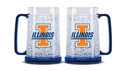 NCAA Illinois Fighting Illini 16-Ounce Crystal Freezer - Illinois Stores In Outlet