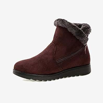 Amazon.com: Fumak: Women Snow Boots Warm Short Fur Plush