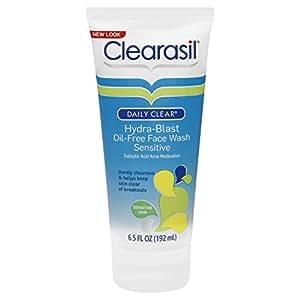 Clearasil Daily Clear Face Wash, Hydra-Blast Oil-Free, Sensitive 6.5 oz