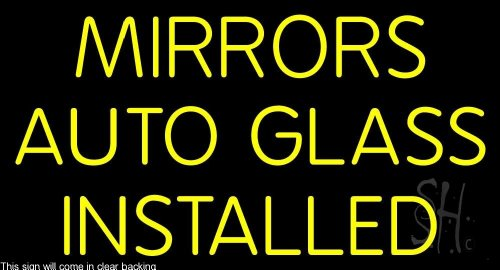 Mirror Auto Glass Installed Clear Backing Neon Sign 20'' Tall x 37'' Wide by The Sign Store
