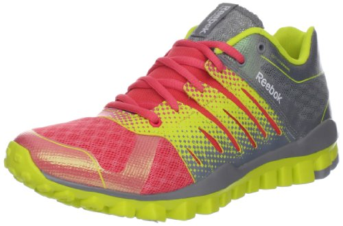 Strength TR Realflex Training Solar Reebok Coral Women's Grey Green Shoe Contrast Flat twEqAH1