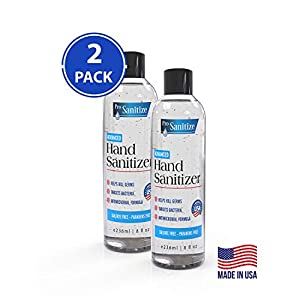 Waterless Hand Disinfectant Cleaning Gel – 2-Pk 8 fl oz Bottles
