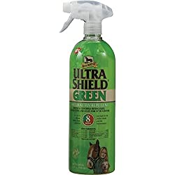 Absorbine 32 Fl Oz Ultra Shield Green Natural Fly Spray Repellent Repels and Controls Insects Ideal for Light Flies