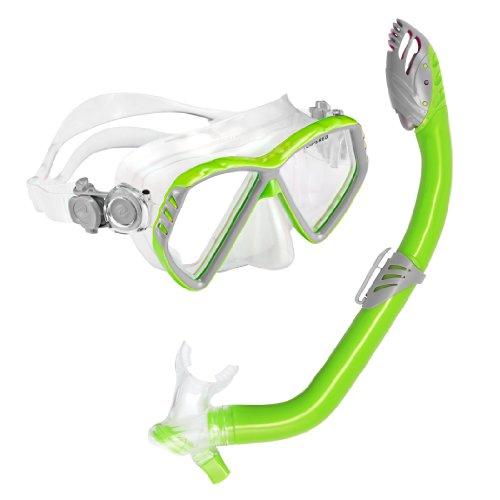 U.S. Divers Junior Regal Mask and Laguna Snorkel, Slime Green