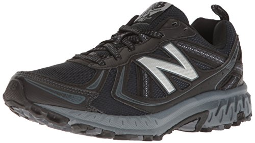 New Balance Men's MT410v5 Cushioning Trail Running Shoe, Black, 8 4E US
