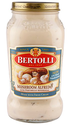 Bertolli Sauce Alfredo Sauce Mushroom W/Portobello Mushrooms, 15 - Mushroom Sauce Bertolli