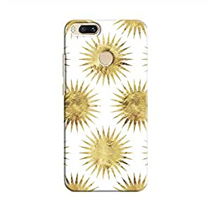 Cover It Up - Gold White Star Mi A1 Hard Case