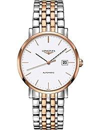 Longines L49105127 Elegant Automatic Mens Watch - White Dial