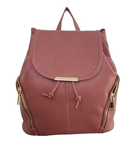 aiseyi Women Backpack Purse Fashion Leather Large Travel Bag Ladies Shoulder Daypack (Pink) - Ladies Pink Leather Strap