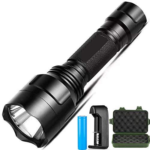 XML T6 Flashlight,Handheld Tactical Cree Led Flashlight,Super Bright 800 High Lumen Flashlight,5 Light Modes Waterproof for Indoor Outdoor