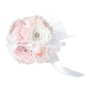 "Lillian Rose 7"" Blush Pink Bouquet 12"