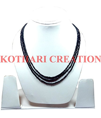 Natural Black Spinel 3-4mm rondelle faceted beads 24
