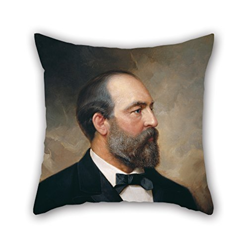 Biekxrso 18 X 18 Inches/Oil Painting Ole Peter Hansen Balling - James Garfield Pillow Shams, Sides Ornament and Gift to Chair,Office,Birthday,Wife,Teens -