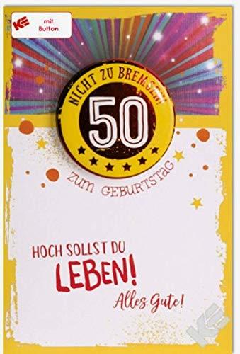 Tarjeta de cumpleaños para 50 cumpleaños. No frenar. Con ...