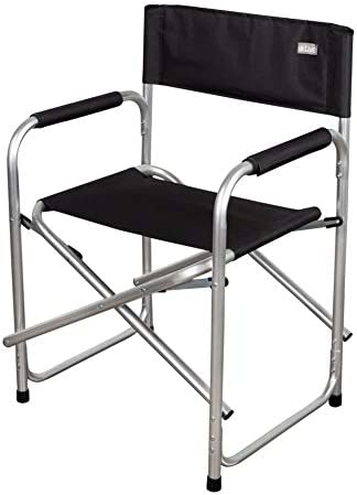 AKTIVE Silla Director Plegable, Camping, Negro, 62617