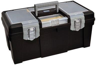 Caja de herramientas de plástico 400x220x198mm ABC TOOLS: Amazon ...